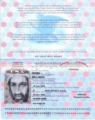 Logran clonar el pasaporte electrónico de Bin Laden